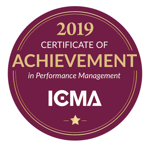 ICMA Performance Management Certificate 2019